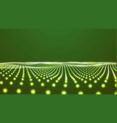 Green landscape background cyberspace landscape vector