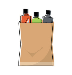 Grocery bag design concept vector