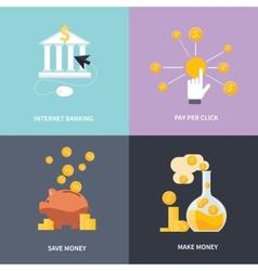Internet banking make money save money vector