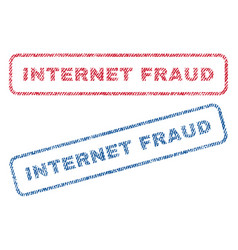 Internet fraud textile stamps vector