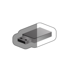 Isolated usb device design vector