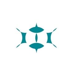 logo - abstract eyes vector image vector image