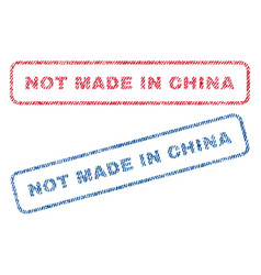 Not made in china textile stamps vector