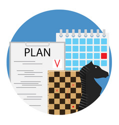 Planning of strategy and tactics vector