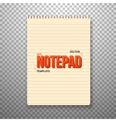 Realistic Notepad Office Equipment Yellow vector image