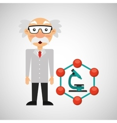 Scientist chemistry concept microscope graphic vector