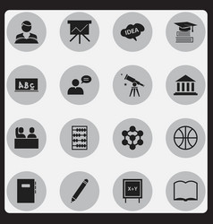 Set of 16 editable graduation icons includes vector