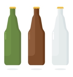 set of color beer bottle vector image vector image