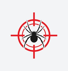 spider icon red target vector image