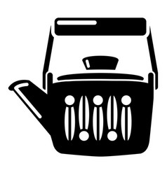 Teatime icon simple black style vector