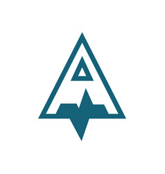 triangleletter a logo vector image