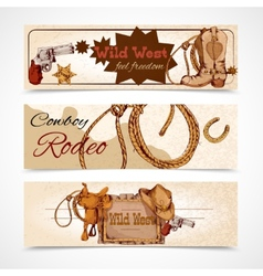 Wild west banners vector image