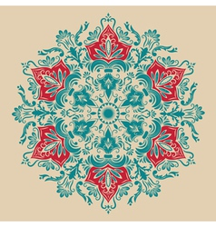 Damask floral arabesque motif vector