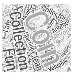Bwcc coin collecting for dummy word cloud concept vector