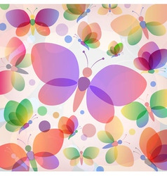 Colorful butterflies summer pattern vector