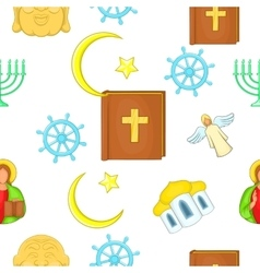 Beliefs pattern cartoon style vector