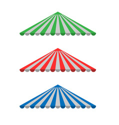 striped awning canopy vector image