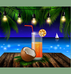 Coconut tropical nut background vector