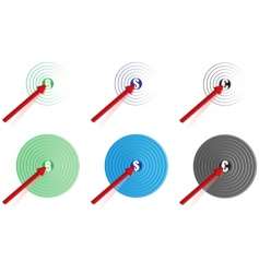 arrow on target vector image