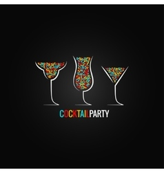 Cocktail party design background vector