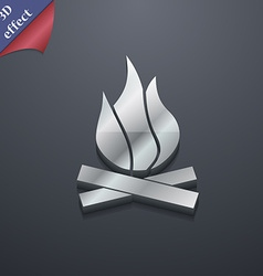 A fire icon symbol 3d style trendy modern design vector