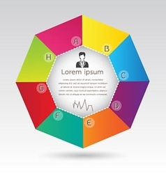 Business octagon diagram infographic presentation vector