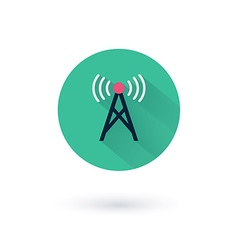 Wifi icons for remote access and communication via vector