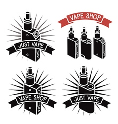 Vape shop logo icons e cigarette vector