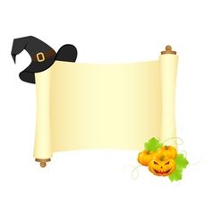 Halloween scroll vector