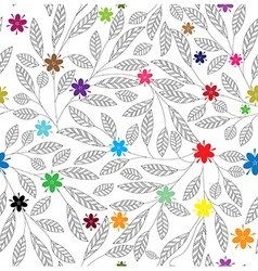 leaf patter flowe vector image
