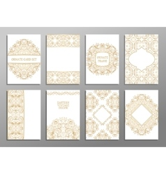 Set of flyer pages ornamental vector
