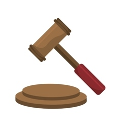 Justice gavel isolated icons over white vector