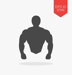 Muscle body icon bodybuilding concept flat design vector