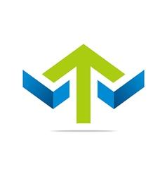 Arrow letter line design sym vector
