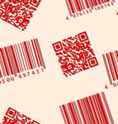 barcode and qr-code seamless wallpaper vector image