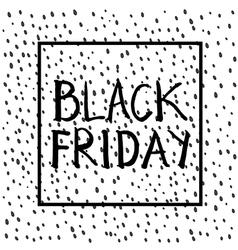 Black friday lettering sqare vector