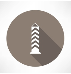 Boundary post pillar icon vector
