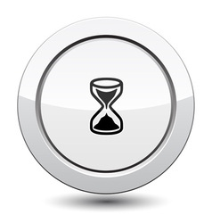 Button with Sand Clock Icon vector image
