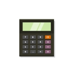 Calculator icon isolated on white vector image vector image