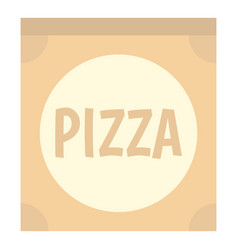 Cardboard box with pizza icon isolated vector