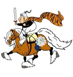 cartoon senior knight vector image