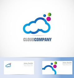 Cloud colors logo design vector image vector image