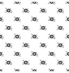 Cyber eye pattern simple style vector