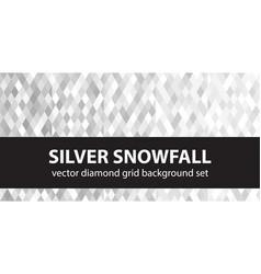 Diamond pattern set silver snowfall seamless vector