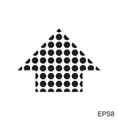 Dots arrow icon vector