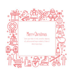 Frame with christmas elements vector