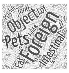 Intestinal blockages in pets caused by foriegn vector