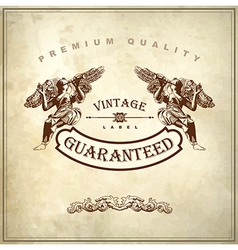 luxury premium quality and guarantee label design vector image