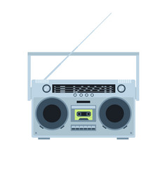 magnetic tape cassette player vintage radio vector image