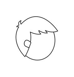 man faceless head vector image